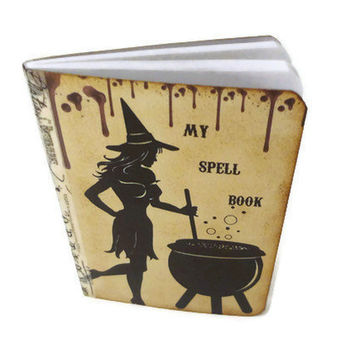 Halloween Spell Book Goth Journal Mini Witch Notebook by Istriadesign