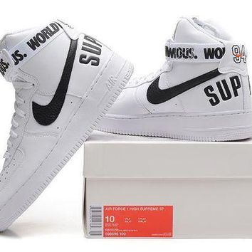 DCCKU62 Originals Nike AIR FORCE One 1 HIGH SUPREME SP AF1 HI Running Sport Casual Shoes 698696 Sneakers