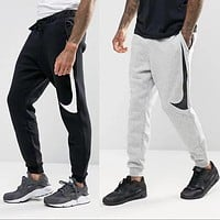 Nike Fashion Classic Women Men Leisure Big Hook Print Sport Pants Trousers Sweatpants I13188-1