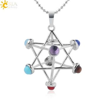 Merkaba Meditation Natural Stone Necklace