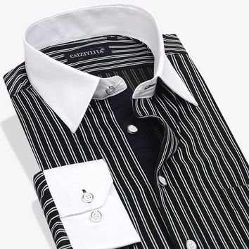 Mens cotton shirts business formal
