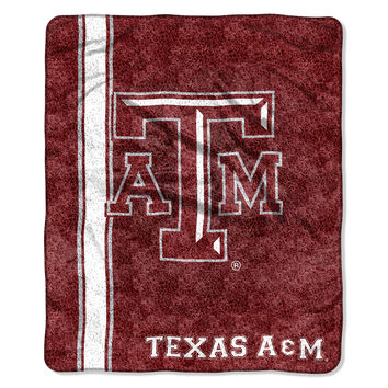 "Texas A&M College """"Jersey"""" 50x60 Sherpa Throw"