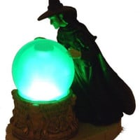 Lot of 2 Wizard Of Oz Wicked Witch of the West Light Up Crystal Ball & Mini Book