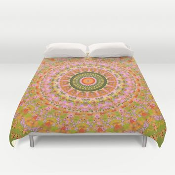 Happy Hippy Mandala Duvet Cover by Vicki Field
