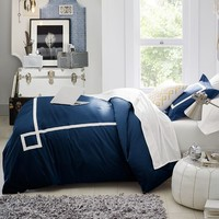 Ribbon Trim Duvet Cover + Sham