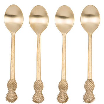Gold Pineapple Demitasse Spoons (Set of 4)
