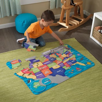 KidKraft Floor Puzzle - Map of the USA - 63434