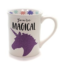Tabletop GLITTER UNICORN MUG Ceramic Our Name Is Mud 6001216