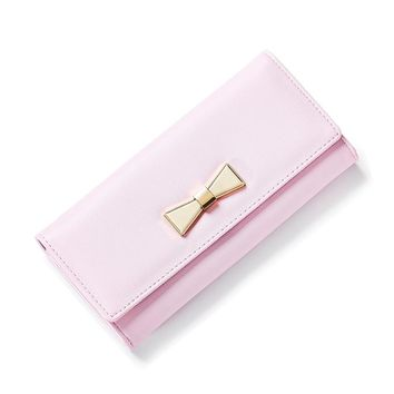 Hot Sale Women Wallets Lady Long Women Wallet Purse Female Candy Color Butterfly Shape PU Leather Carteira Coin Card Clutch Bag