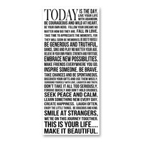 ''Today is the Day'' Canvas Wall Art by Louise Carey