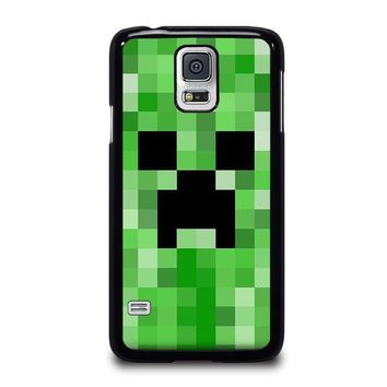 creeper minecraft 2 samsung galaxy s5 case cover  number 1