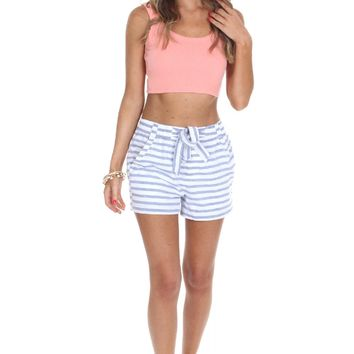 Striped Tie Shorts