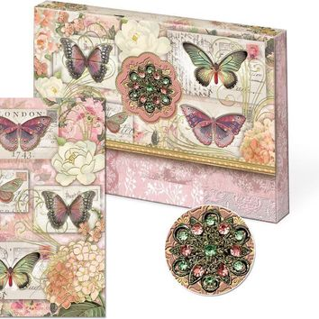 Butterflies Brooch Portfolio Note Cards - Only 2 Left