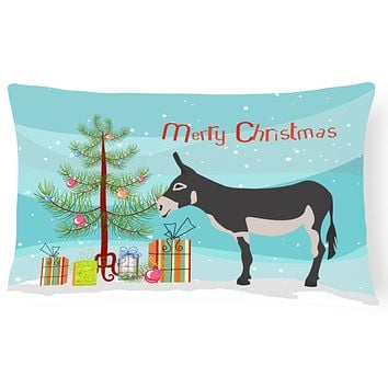 American Mammoth Jack Donkey Christmas Canvas Fabric Decorative Pillow BB9211PW1216