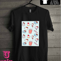 hello kitty ice cream popcorn T-Shirt for man shirt, woman shirt **