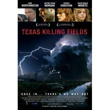 Texas Killing Fields Movie poster Metal Sign Wall Art 8in x 12in