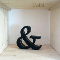 Ampersand wood letter