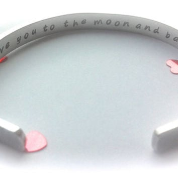 Love you to the moon and back jewellery | Hidden message bracelet | Custom quote jewellery | Personalised jewellery | Secret message gift