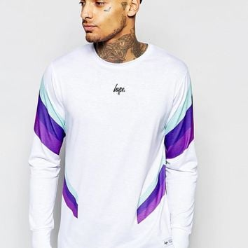 Hype | Hype Long Sleeve T-Shirt With Retro Print Panels at ASOS