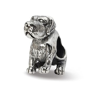 Silver German Shorthaired Pointer Bead Charm