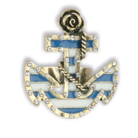 Cute Navy Anchor Ring - Unique Vintage - Cocktail, Evening, Pinup Dresses