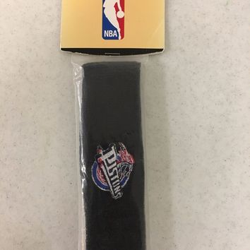RETRO DETROIT PISTONS BLACK TEAM NBA HEADBAND SHIPPING