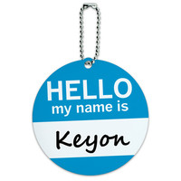 Keyon Hello My Name Is Round ID Card Luggage Tag