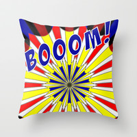 Mondrian explosion Throw Pillow by aapshop