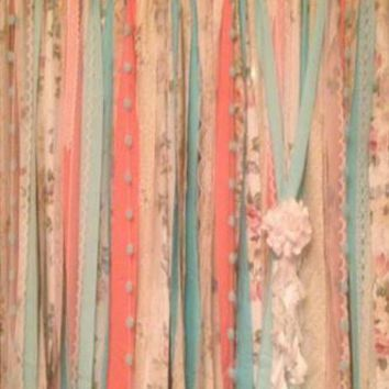 Tied Garland Wedding Party Photo Booth Backdrop Curtain Background - AB105