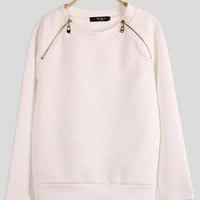 'The Addison' ZipperedLong Sleeve Sweatshirt