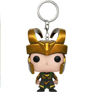 Marvel The Avengers Loki Keychain Action Figures Children Toy With Box