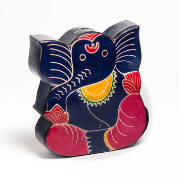 Cruelty-Free Leather Ganesh Piggy Bank (India) | Overstock.com Shopping - The Best Deals on Gifts