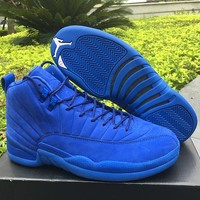 Air Jordan 12 Retro Premium Deep Royal Blue AJ12 Sneakers - Best Deal Online