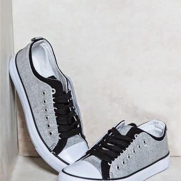 Colorblock Double Lace-Up Sneakers