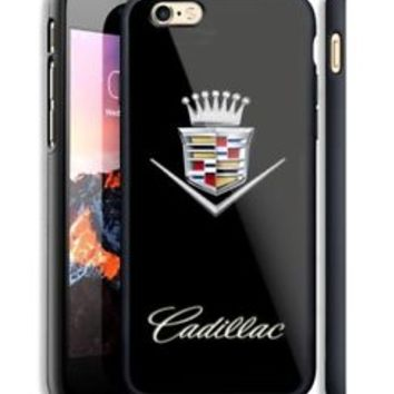 Cadillac Crown Emblem Hard Case For iPhone 6 6+ 6s 6s+ 7 7+ 8 8+ X Samsung Cover