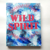 Wild Spirit bohemian acrylic canvas painting for fashionable girls room, dorm room, or home decor