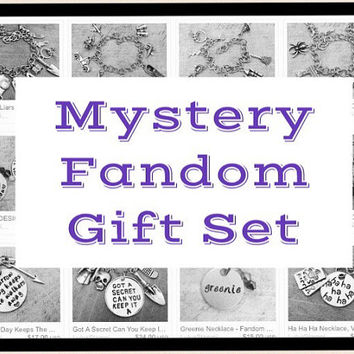 Exclusive Mystery Fandom Gift Set, Mystery Grab Bag, Ultimate Fangirl Jewelry , Fandom Jewelry, Fangirl Jewelry, Gift Set, Free Shipping