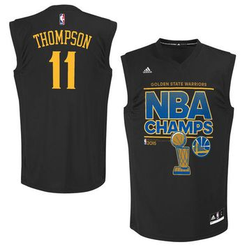 Men's Golden State Warriors Klay Thompson adidas Black 2015 NBA Finals Champions Jersey