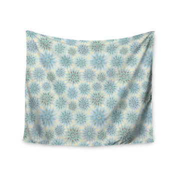 "Julia Grifol ""My Delicate Flowers"" Blue Green Wall Tapestry"