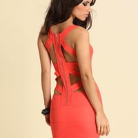 ASOS Slash Back Zippy Body Con Dress at asos.com