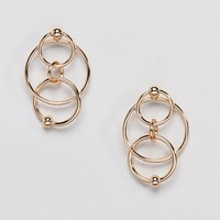 Monki Multi Link Circle Earrings at asos.com