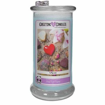 To My Love | Jewelry Greeting Candle