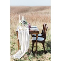 Ivory Gauze Table Runner