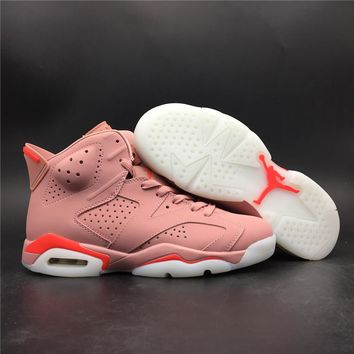 Air Jordan 6 women pink basketball shoes good quality made in CHINA