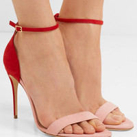 Jennifer Chamandi - Roland two-tone suede sandals