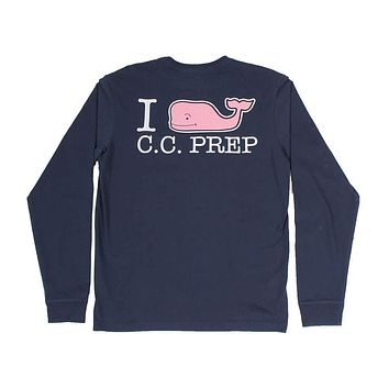 I Whale CC Prep Long Sleeve Tee Shirt in Blue Blazer by Vineyard Vines