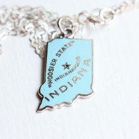 State Charm Necklace - Indiana