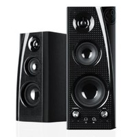 GOgroove BlueSYNC SLK Wireless Bluetooth Home Audio Stereo Speaker System (Pair) with Powerful Bass & Wall Mounting Brackets for Smartphones , Tablets , Desktop Computers , Laptops & More!