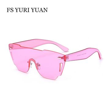FS YURI YUAN  Women Sunglasses Luxury Brand Designer Sunglasses Fashion Ladies Hipster Flat Top Eyeglasses lunette soleil UV400