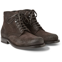 Bottega Veneta - Brushed-Leather Lace-Up Boots | MR PORTER